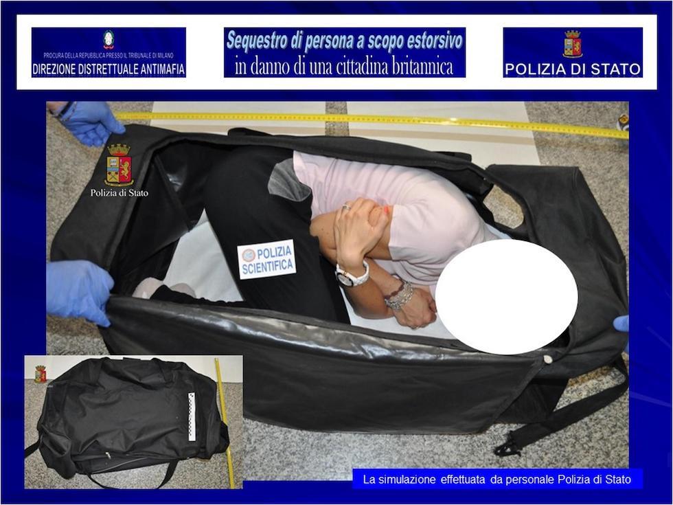 Chloe Ayling dentro valigia modella inglese rapita